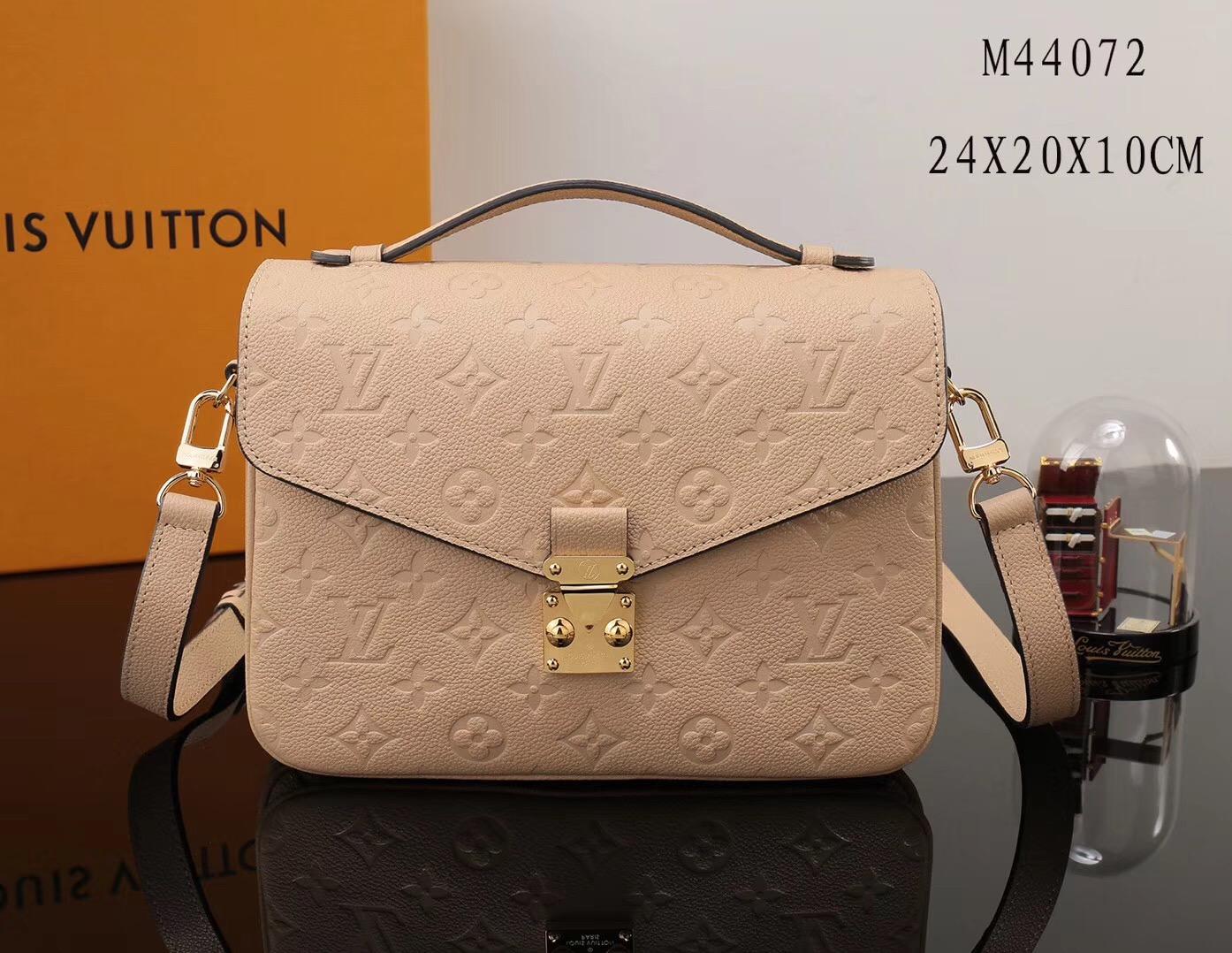 47f6c6bdb812 LV Louis Vuitton Pochette Metis Shoulder Leather bags M44072 Handbags Beige  ...