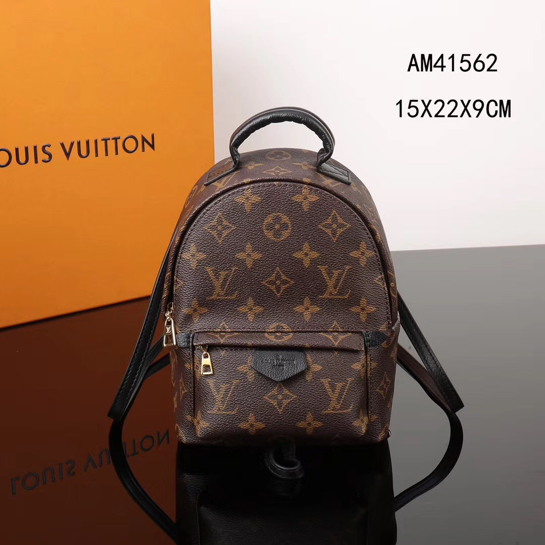 22f0e544ca LV Louis Vuitton Monogram M41562 Backpack Mini bags Brown [LV1083 ...