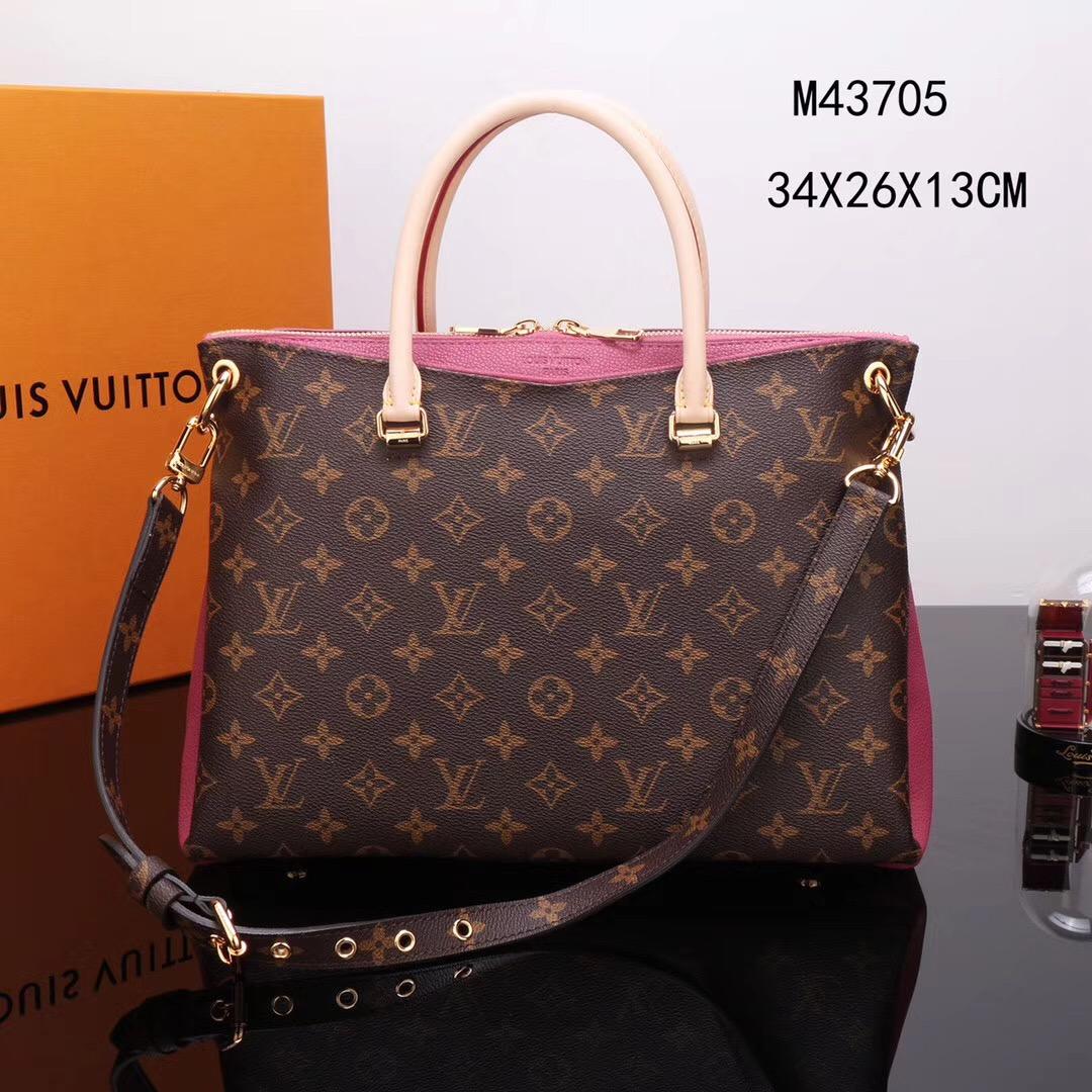 2e5a3b58c45d LV Louis Vuitton M44037 Pallas Monogram Clutch bags Handbags Pink ...