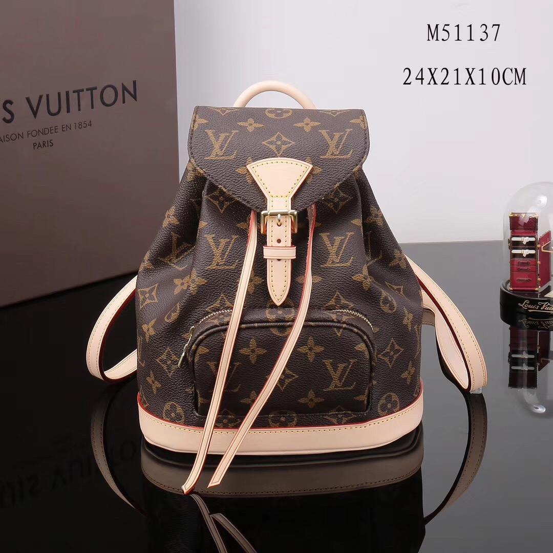 56c9e30f0c26 LV Louis Vuitton Monogram Montsouris bags Backpack M51137 Handbags Brown ...