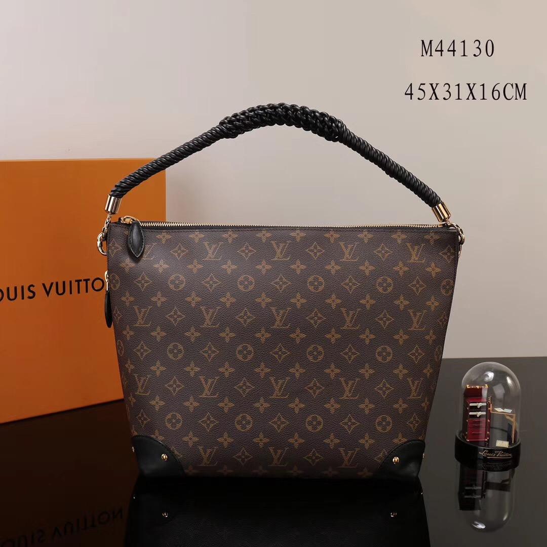 f211e4a1d956 LV Louis Vuitton Monogram Triangle M44130 Softy Handbags bags Brown ...