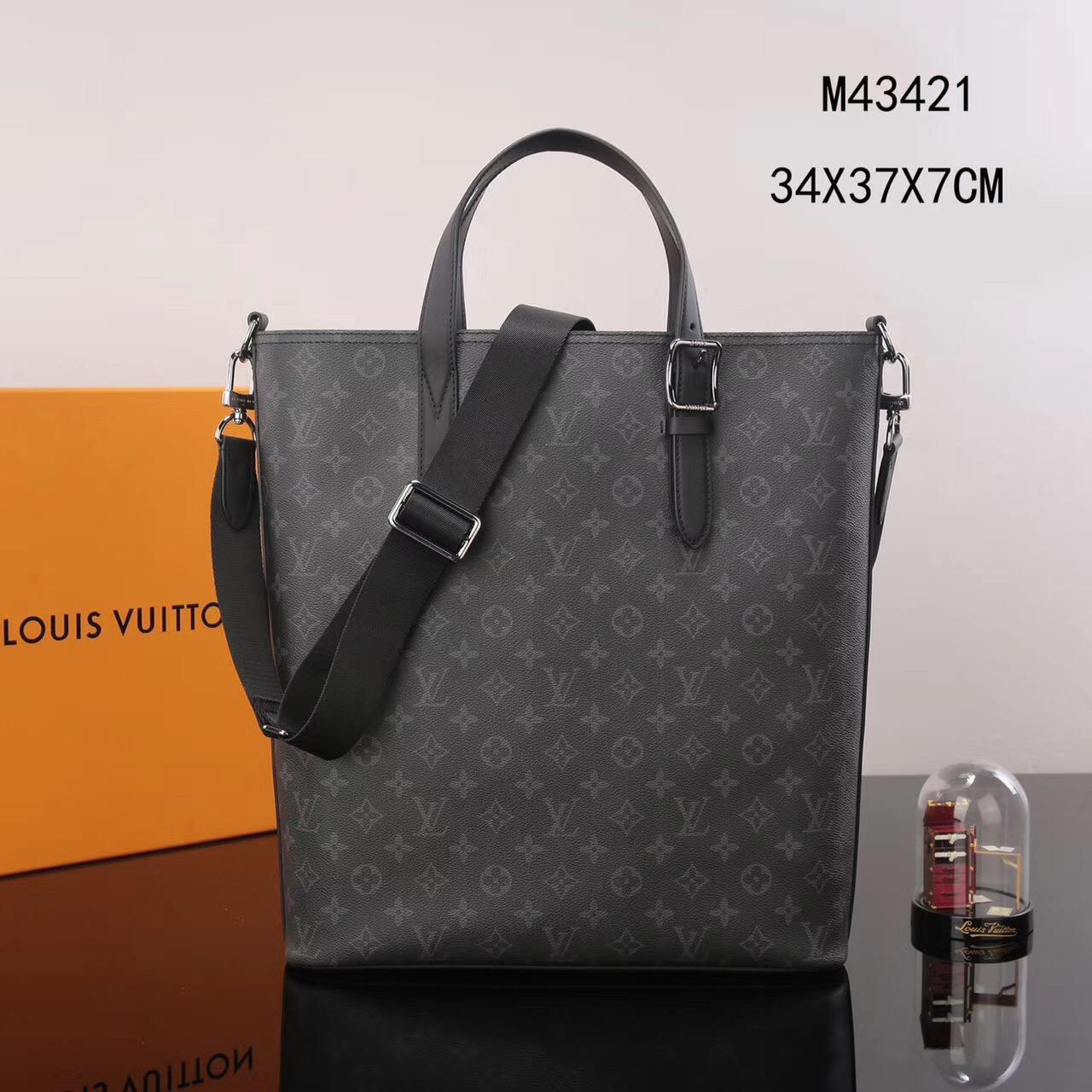 94f920dea69 Men LV Louis Vuitton M43421 Apollo Damier Tote Handbags bags Gray ...